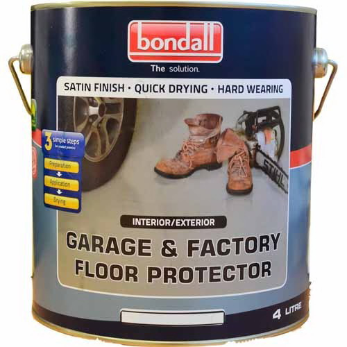 4L Garage & Factory Floor Protector Satin White Base