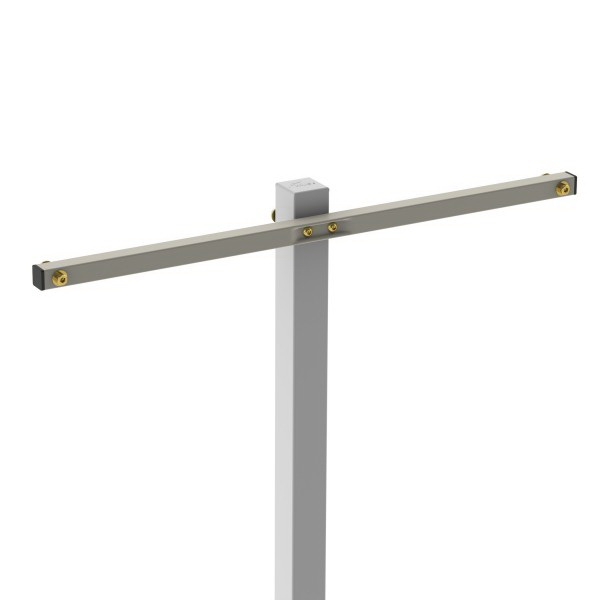Retracting Clothesline Mount Bar For 4 Line 720 x 25 x 25mm Stone 77246