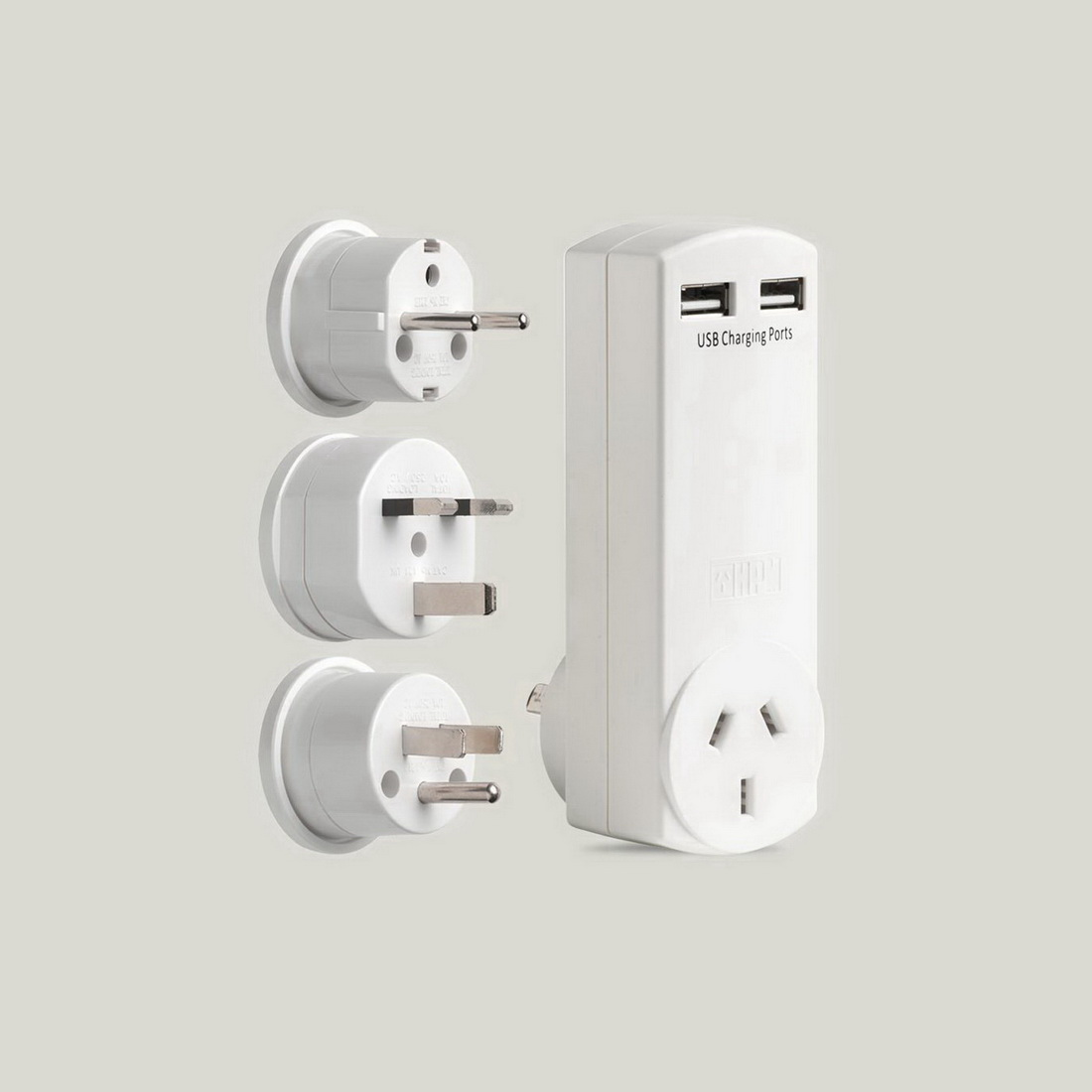 HPM 4.2AMP TRAVEL PLUGS WITH USB CHARGER