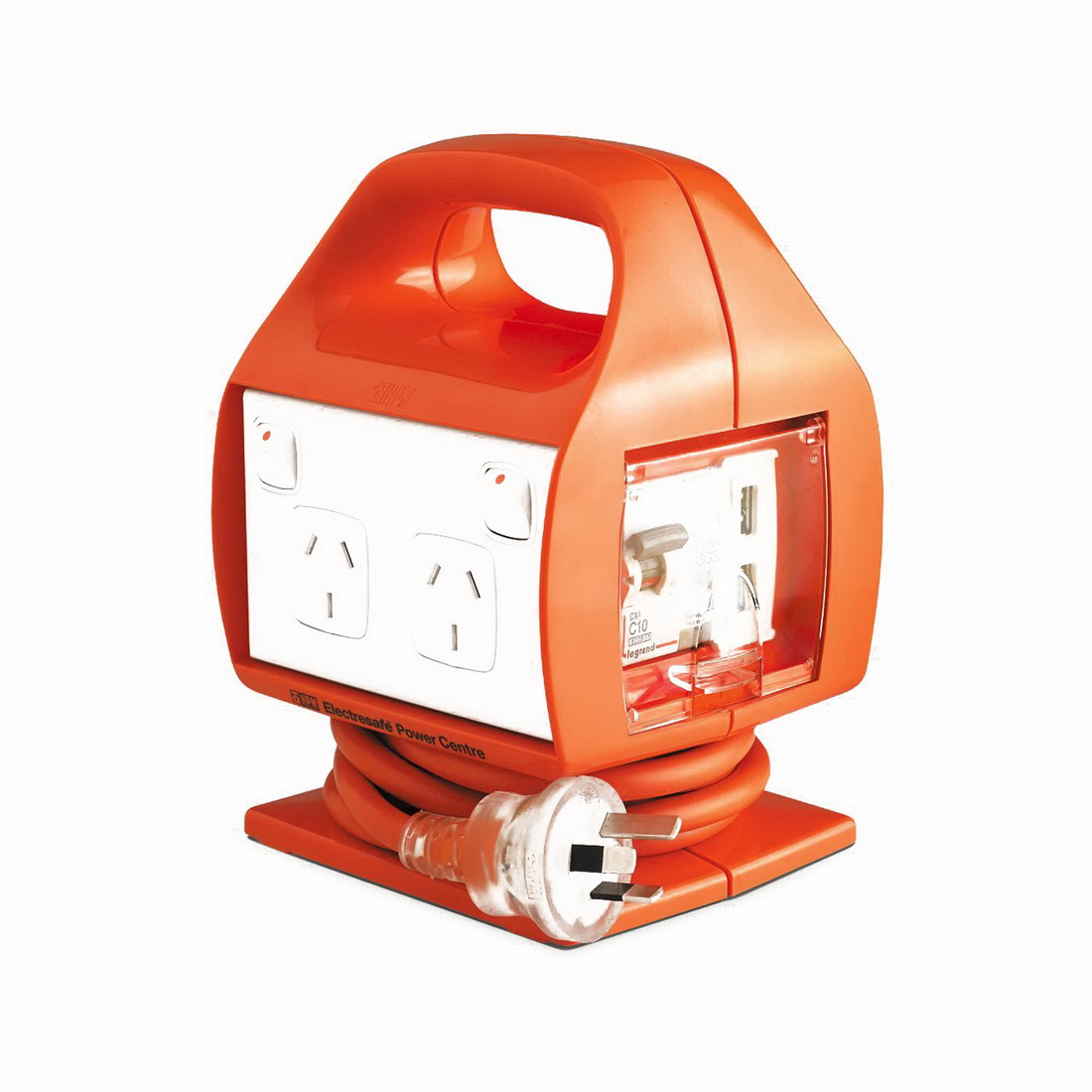 Electresafe 4-Outlet Flexible Heavy Duty Power Center with USB
