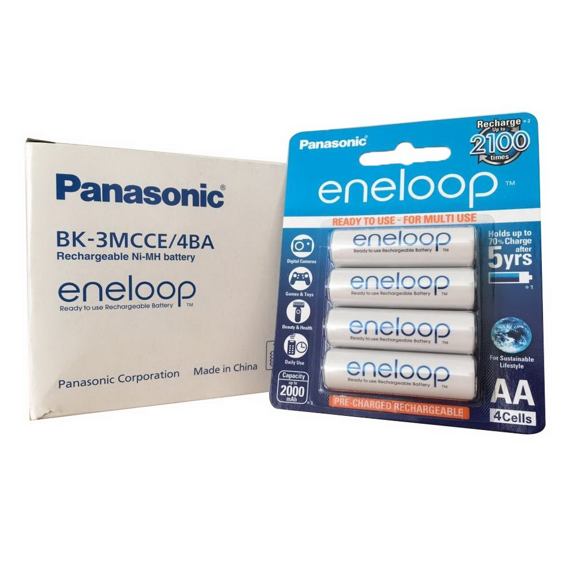 Eneloop 2000mAh AA Ready to use Rechargeable Battery 4 pack