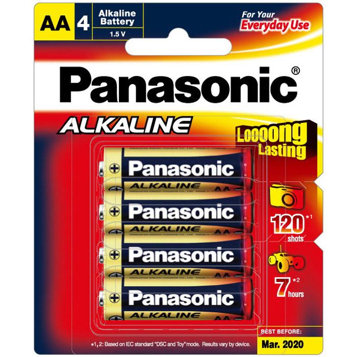 AA Alkaline Battery 1.5V Red 4 pack LR6T/4B