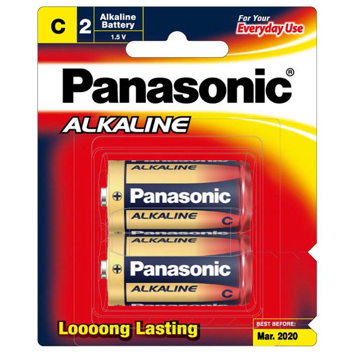 C Alkaline Battery 1.5V Red 2 pack LR14T/2B