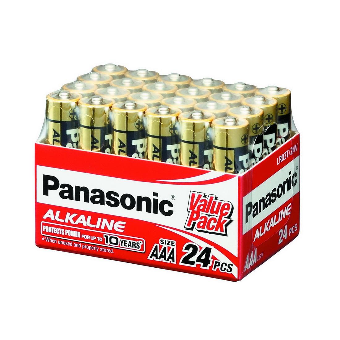 AAA Alkaline Battery 1.5V 24 pack LR03T/24V