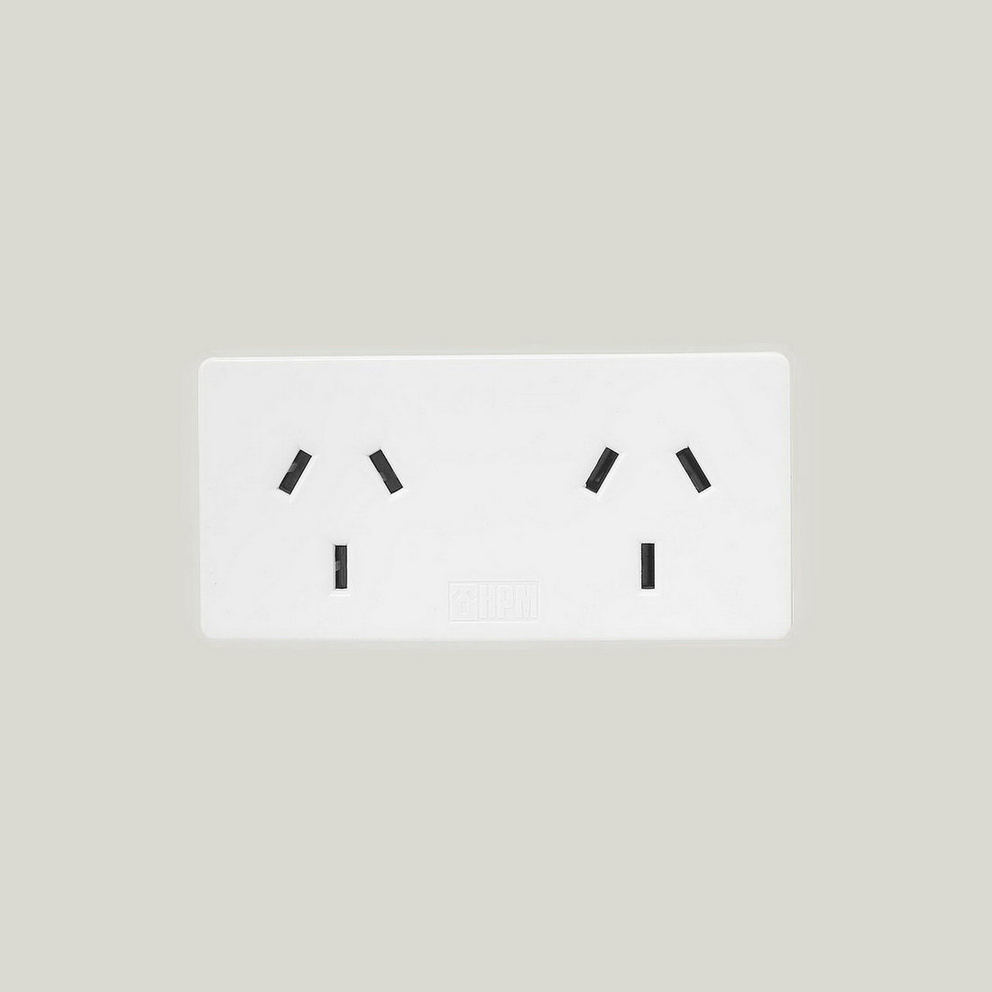 10A Compact Double Adapter Extends Left White 2 pack