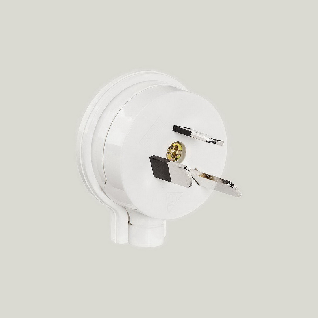 3-Pin Male Low Profile Side Entry Top White