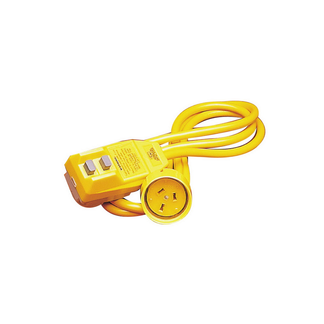 5.25ft Extension Lead with Single Outlet Safety Switch Yellow