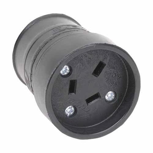 3 Pin Rubber Female Plug Connector