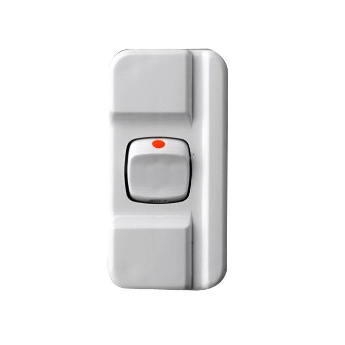 10A 2-Pole Cord Line Mini Switch White