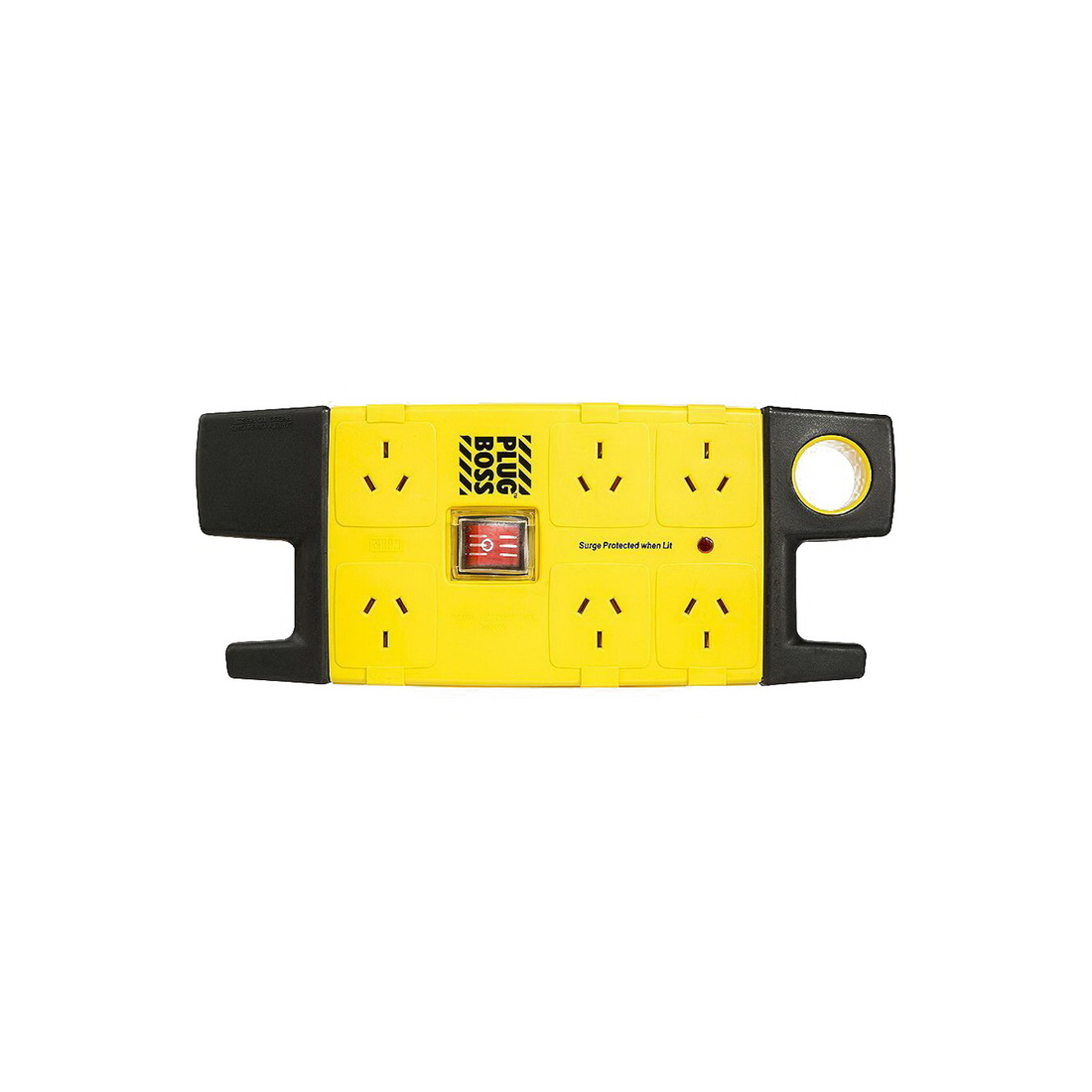 6-Outlet 3m Surge Protected Plug Boss Power Board