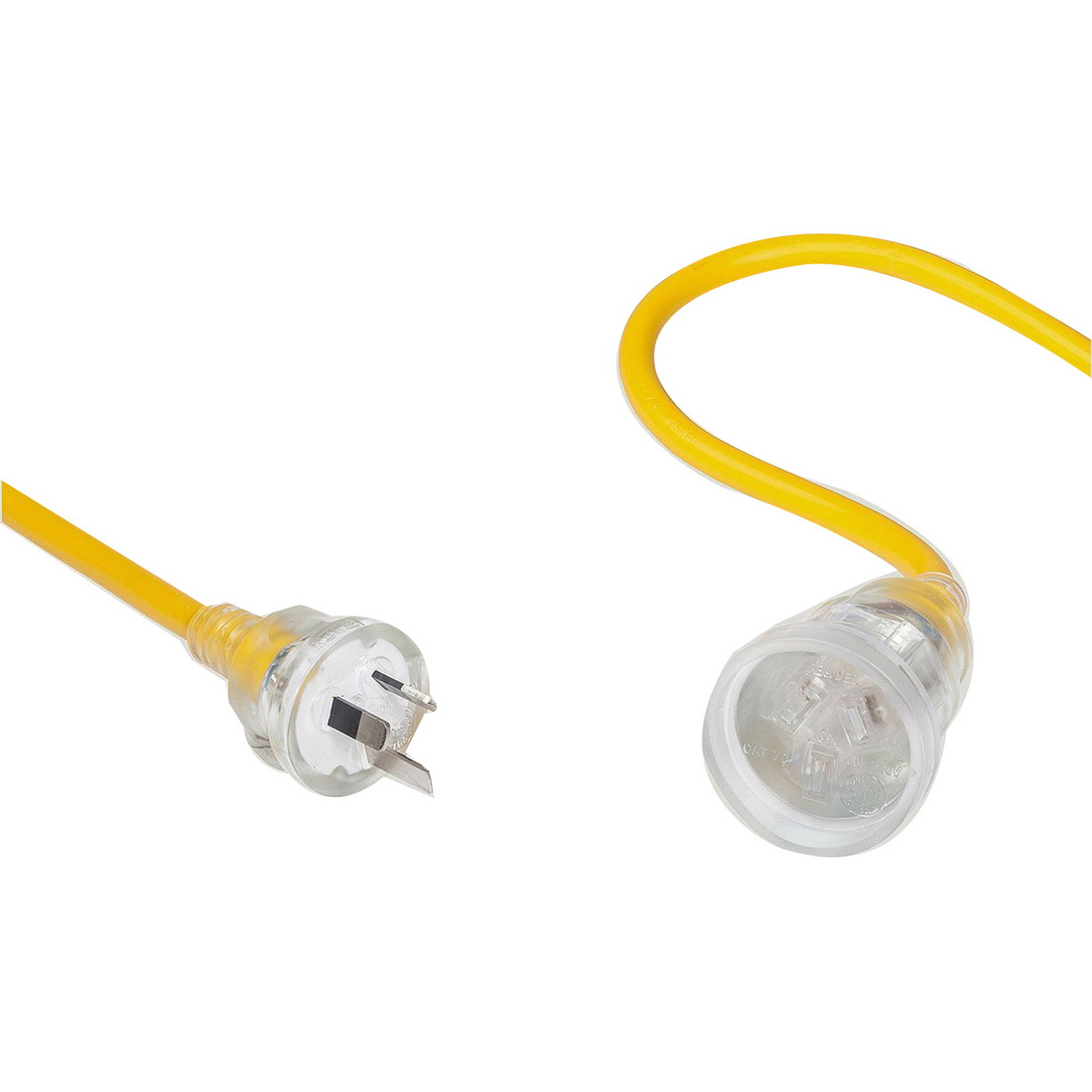 5m Heavy Duty Extension Lead with Clear Socket Yellow