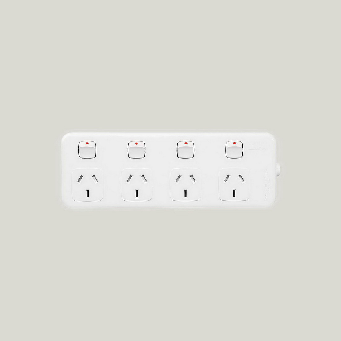 4-Outlet 0.9m Switched Power Board