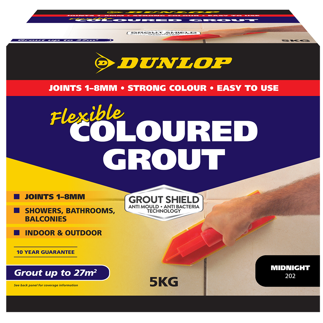 Flexible Coloured Grout Midnight 5kg 10332
