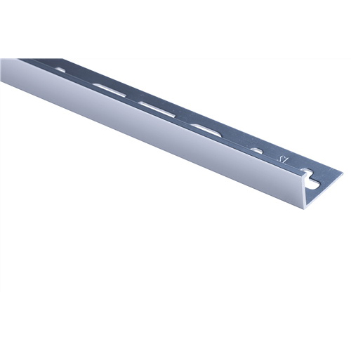 QEP L Angle Tile Trim 12mm x 2.5m Aluminium Silver Bright TASE12-B