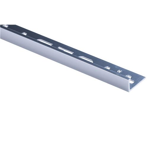 QEP L Angle Tile Trim 10mm x 2.5m Aluminium Silver Bright TASE10-B