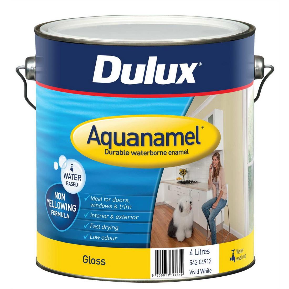 Aquanamel Gloss Vivid White 4L