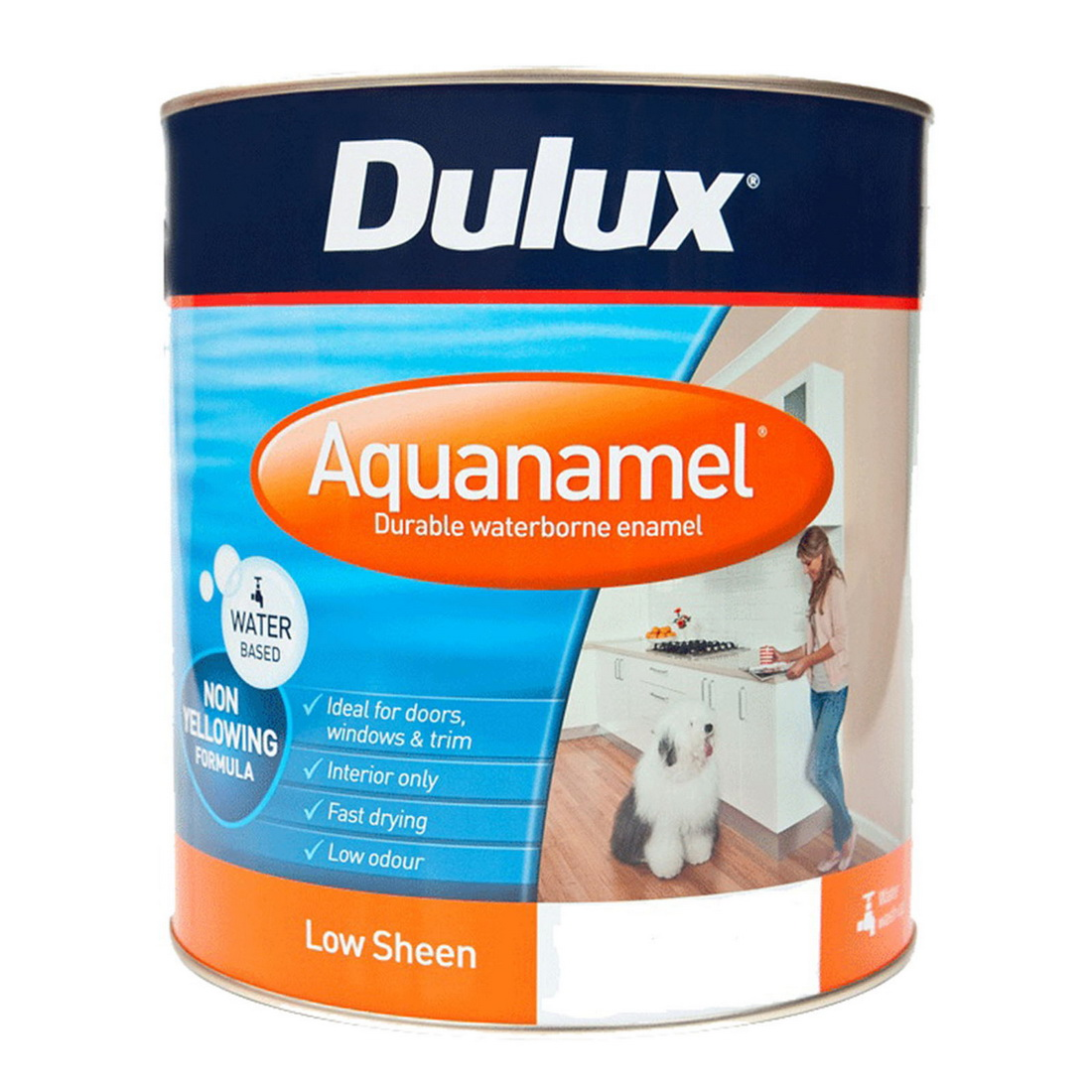 Aquanamel Low Sheen Vivid White 1L