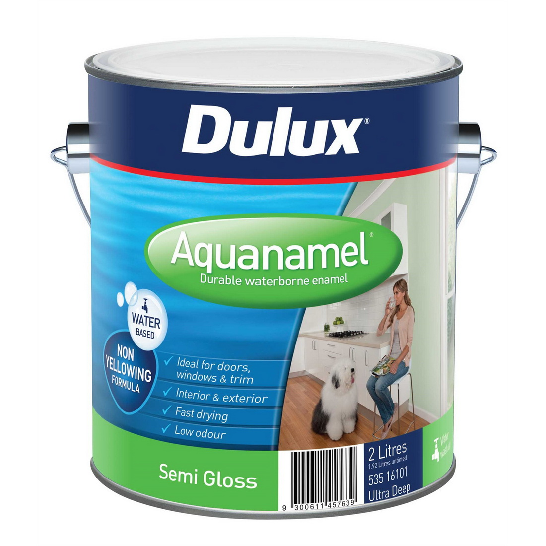 Aquanamel Semi Gloss Extra Bright 1L