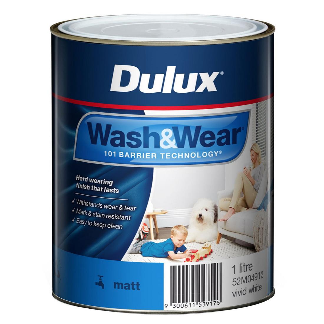 Wash And Wear Interior Matt Vivid White 1L