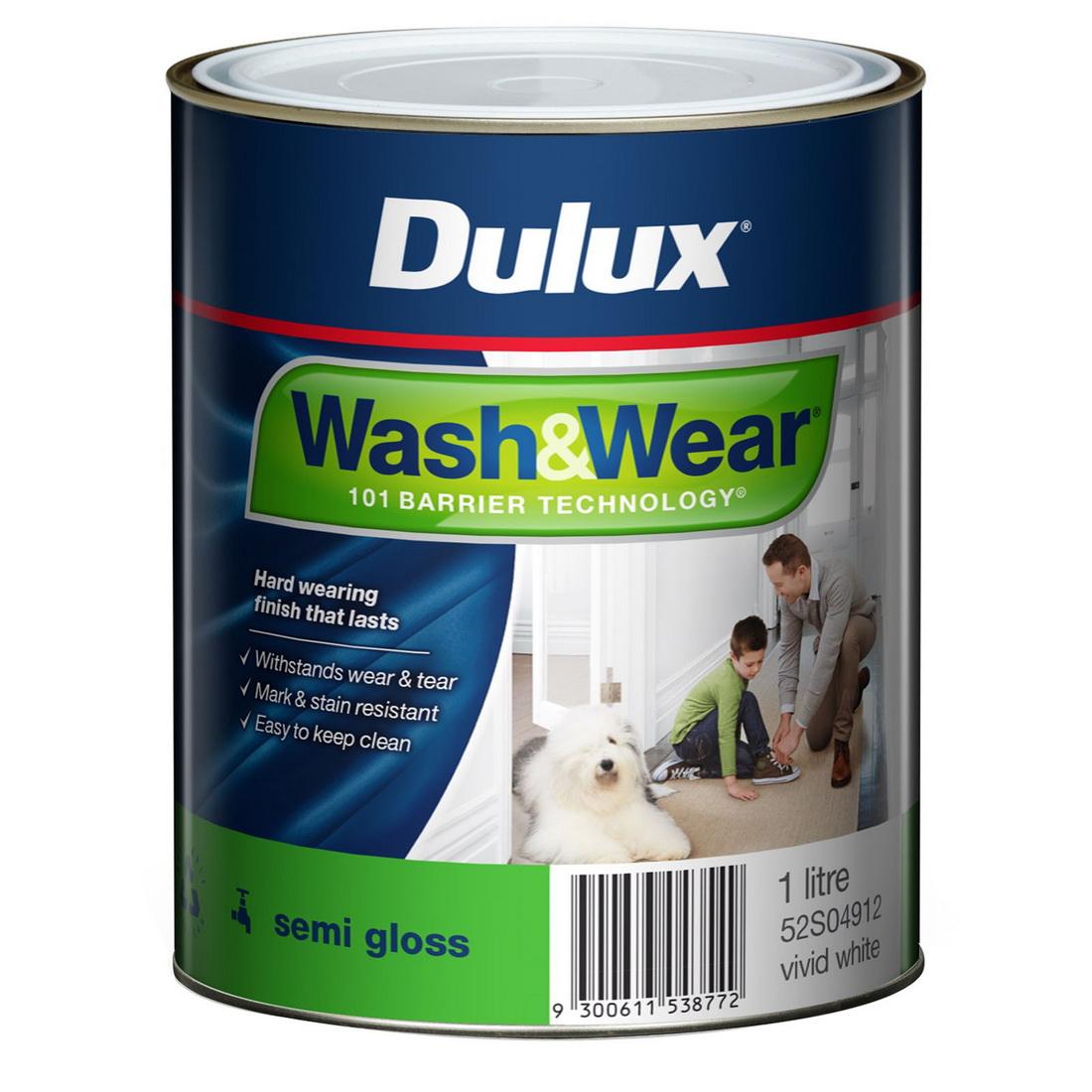 Wash&Wear Interior Semi Gloss Vivid White 1L