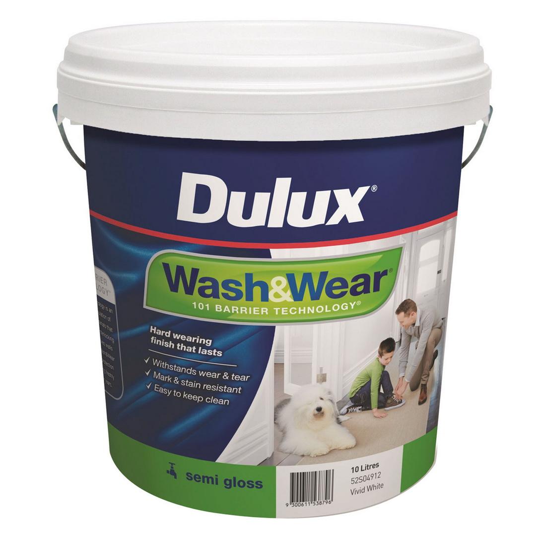 Wash&Wear Interior Semi Gloss Vivid White 10L