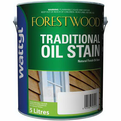 Forestwood 5L Traditional Oil Stain Blackbean