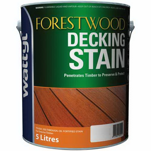 Forestwood Oil Decking Stain Exterior Stain Blackbean 5L