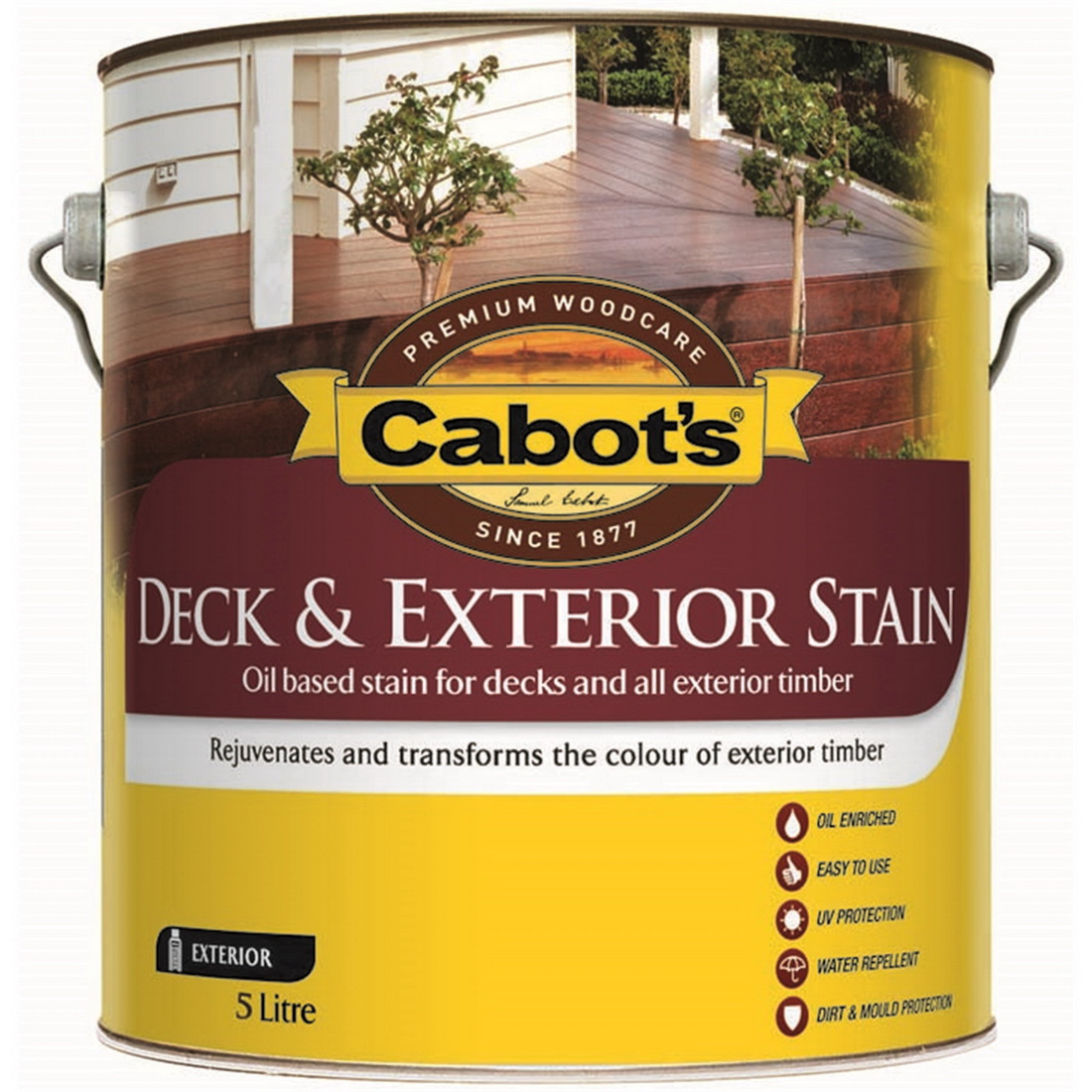 Deck & Exterior Stain Oil Based Silver Beech 5L 826W0139-5L