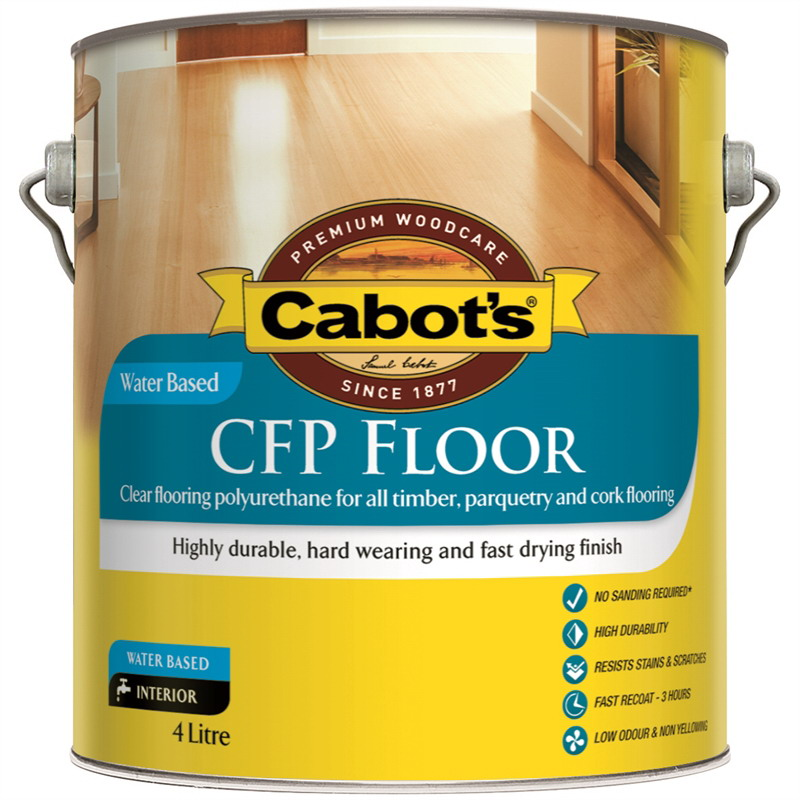 1L CFP Water Based Flooring Polyurethane Satin Clear