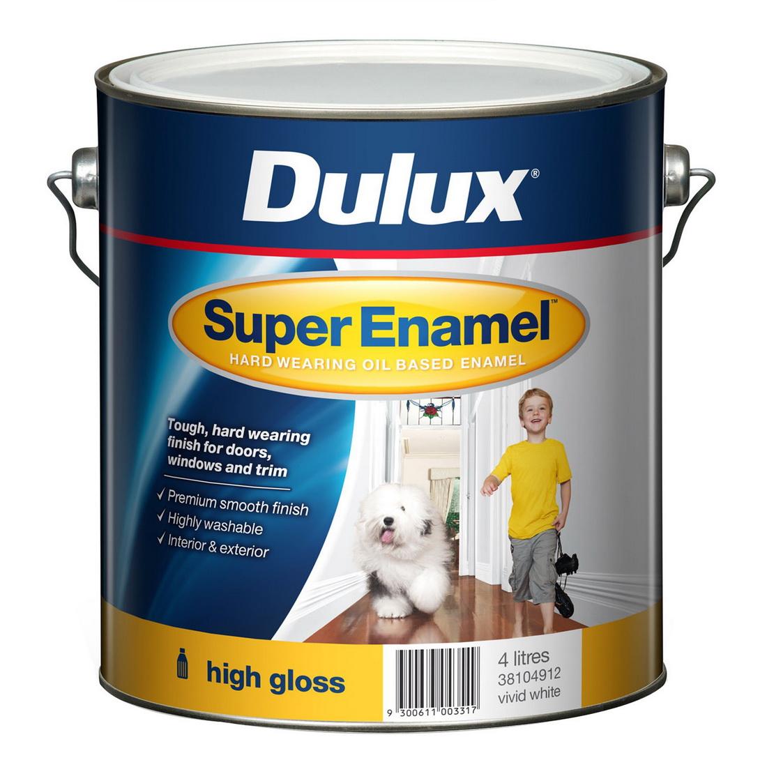 Super Enamel High Gloss Vivid White 4L