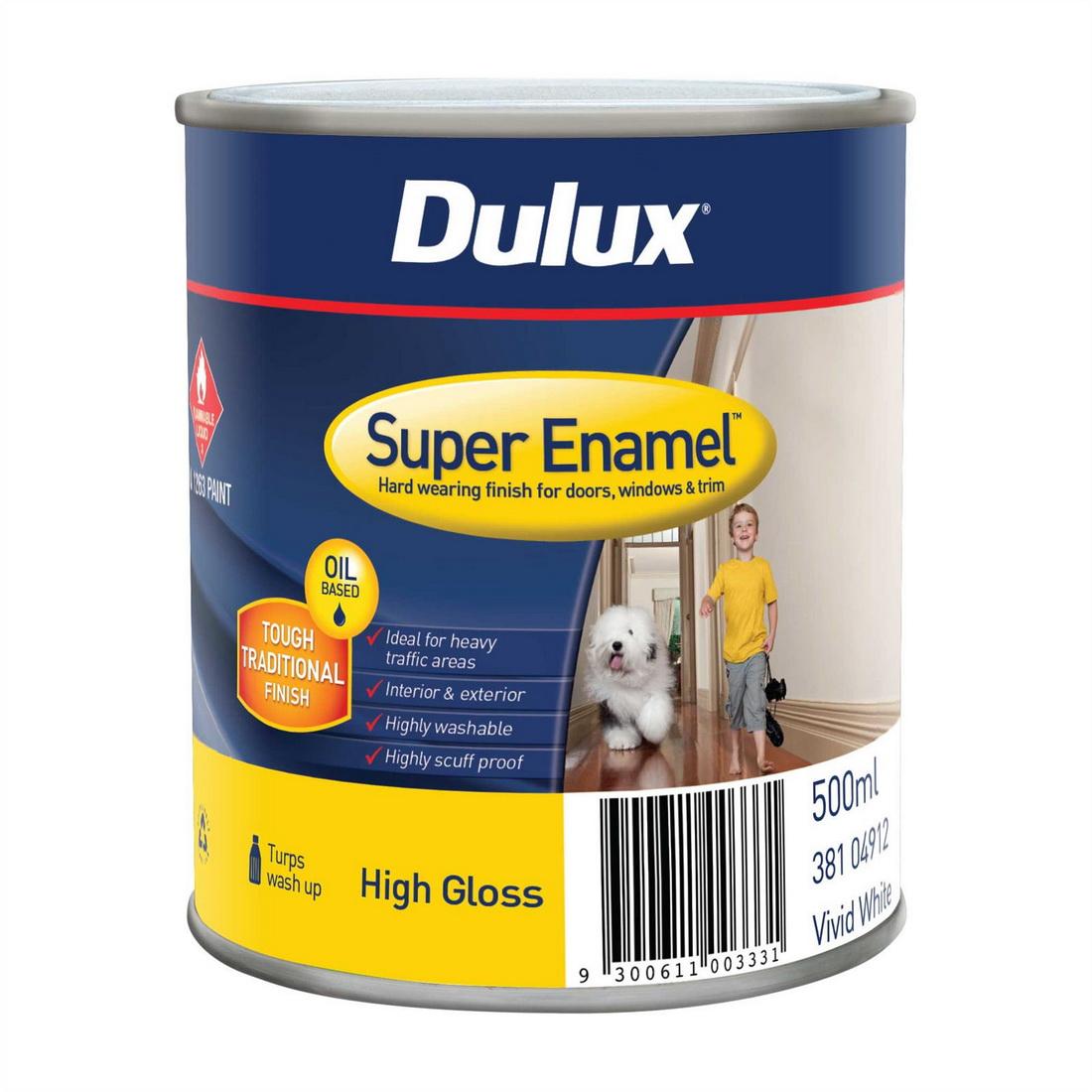 Super Enamel High Gloss Vivid White 500ml