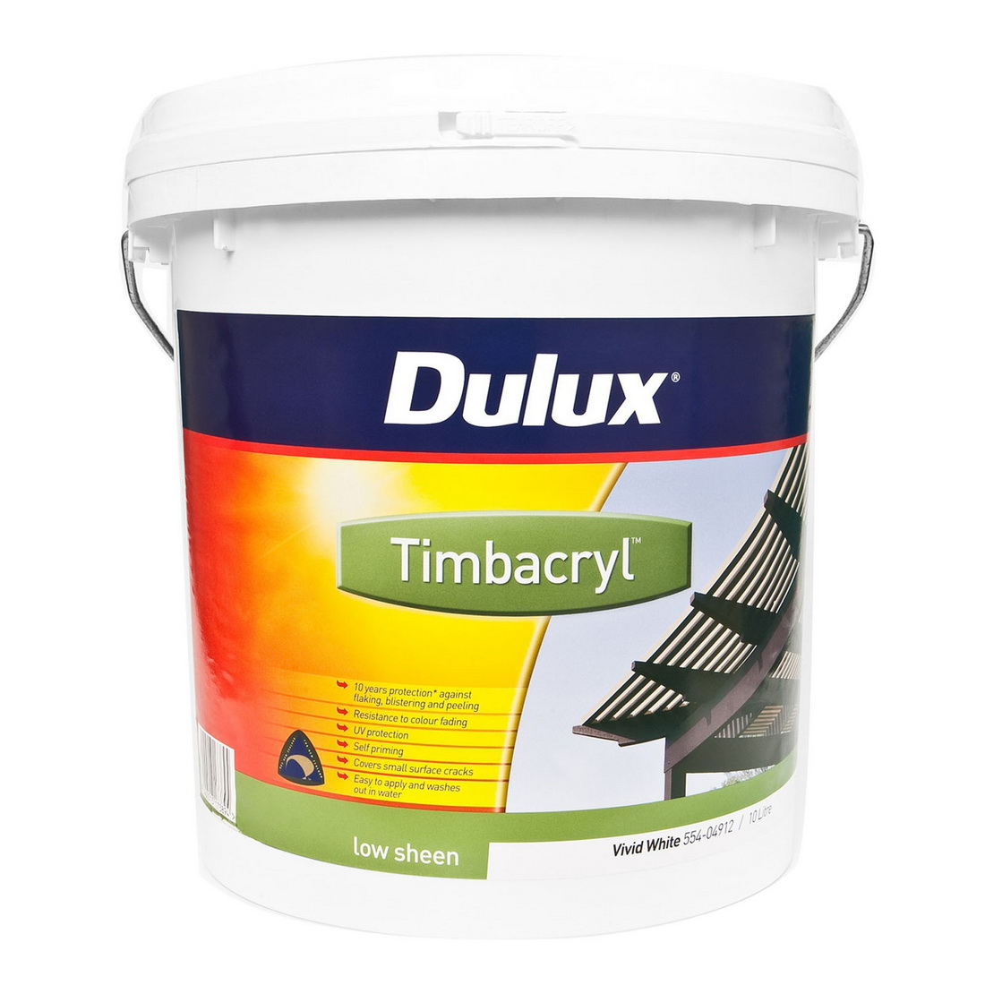 Timbacryl 10L Exterior Acrylic Paint Ebony Low Sheen
