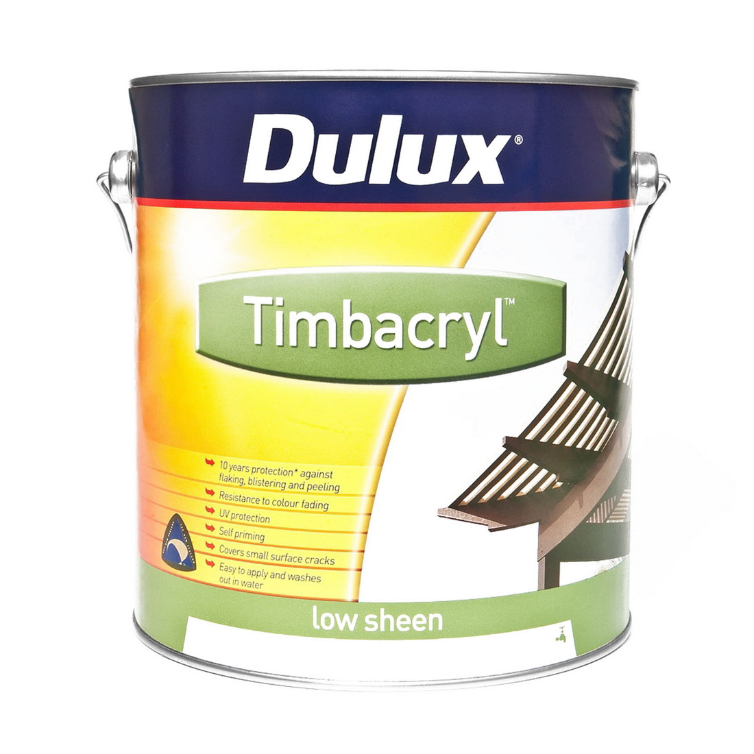 Timbacryl 4L Exterior Acrylic Paint Ebony Low Sheen
