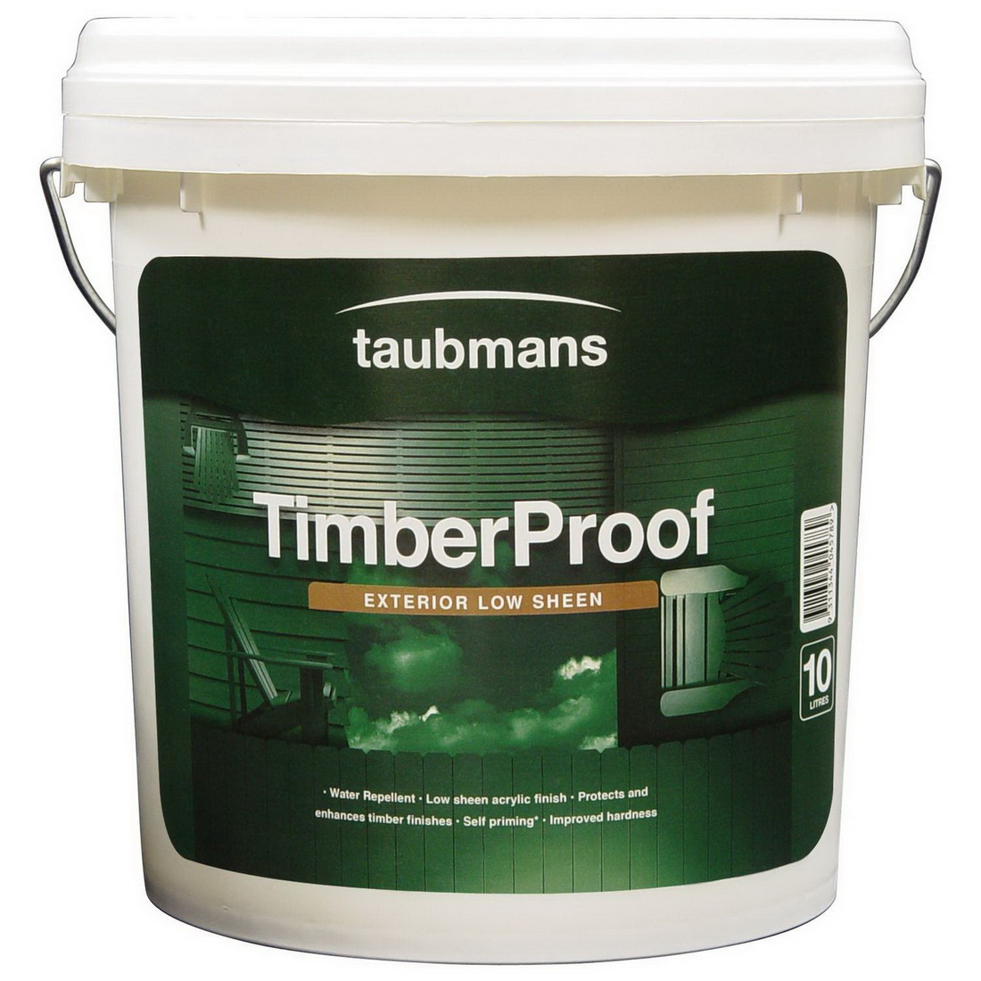 Timber Proof 10L Acrylic Paint Low Sheen Deep Base