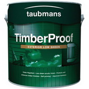 Timber Proof 1L Exterior Topcoat Acrylic Paint Low Sheen Deep Base