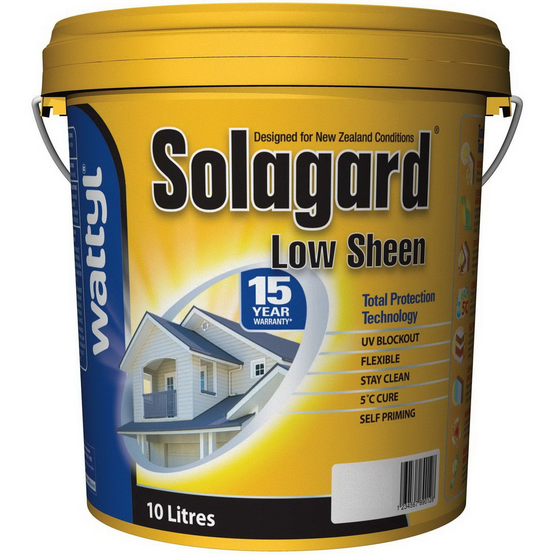 Solagard Exterior Topcoat Low Sheen Pastel 10L