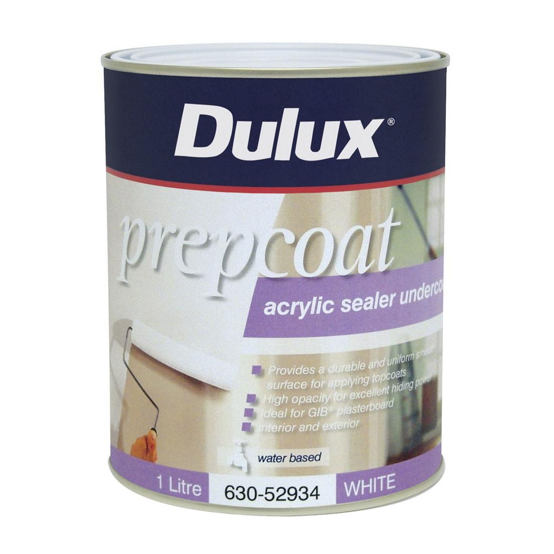 1L Water Based Prepcoat Acrylic Sealer Undercoat White