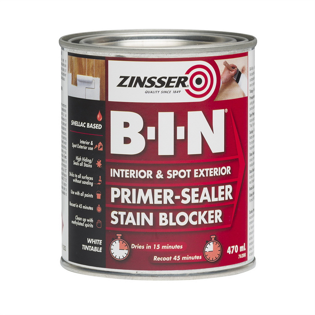 Zinsser B-I-N 470mL Primer Sealer White