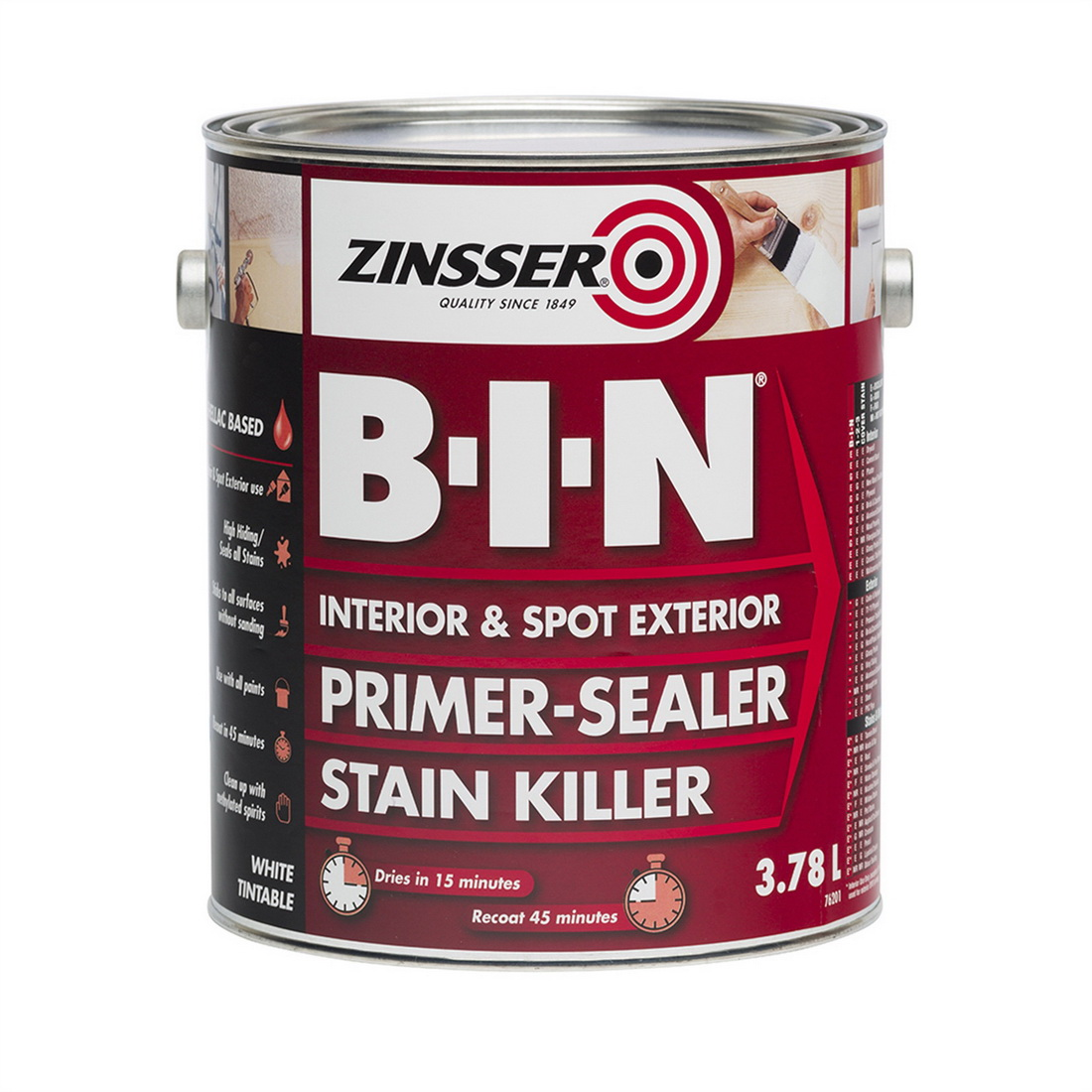 Zinsser B-I-N 3.75L Primer Sealer White