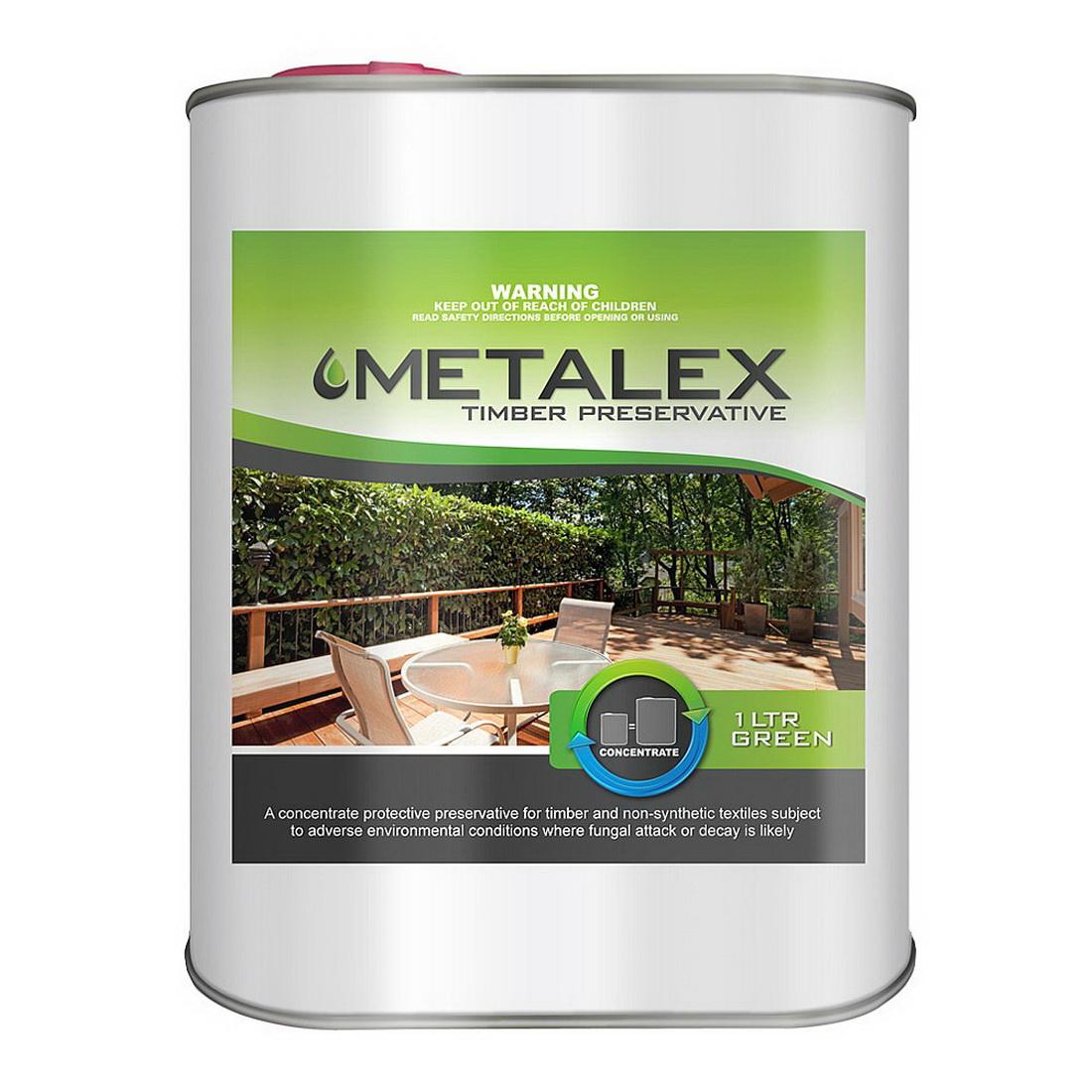 METALEX TIMBER PRESERVATIVE GREEN 1L 44002