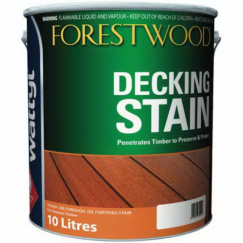 Forestwood Oil Decking Stain Exterior Stain Mission Brown 10L
