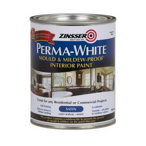 1L Perma-White Mould & Mildew-Proof Interior Paint Satin White