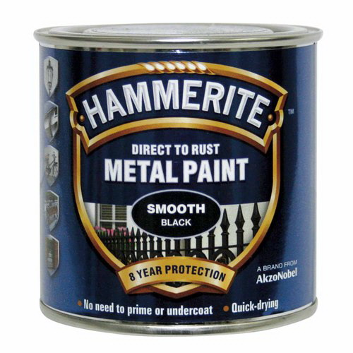 250ml Direct To Rust Smooth Metal Paint Black
