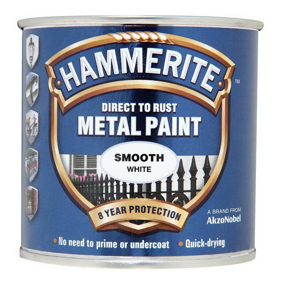 250mL Direct to Rust Smooth Metal Paint White