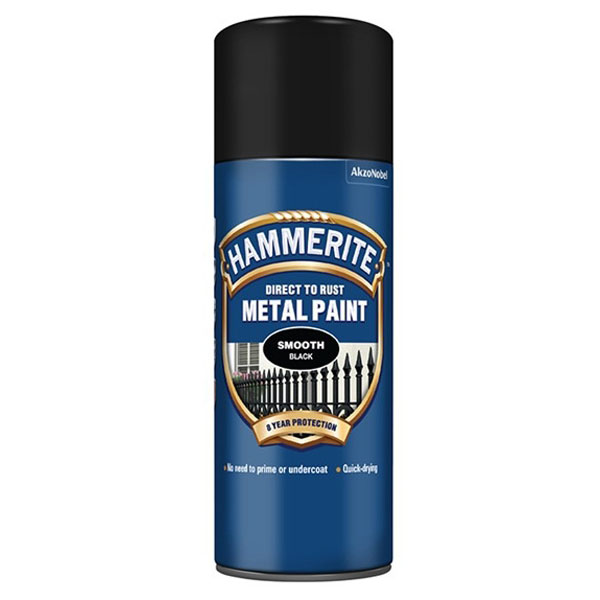 400mL Direct to Rust Smooth Metal Paint Black