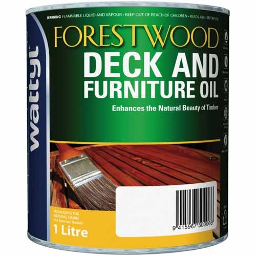 Forestwood 1L Deck & Furniture Oil Stain Natural Kwila