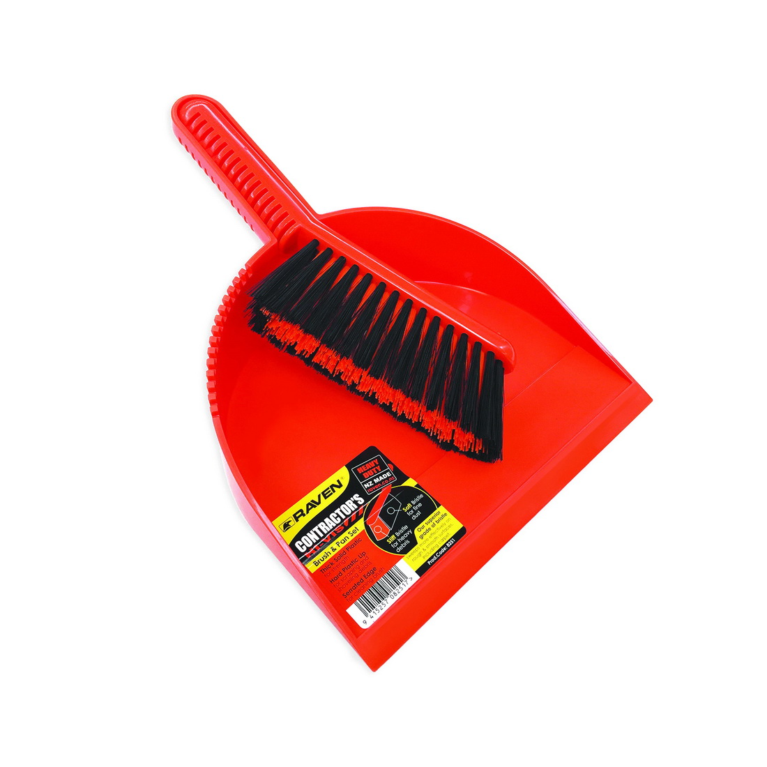 Raven Commercial Hi-Vis Utility Brush & Pan Set 8251