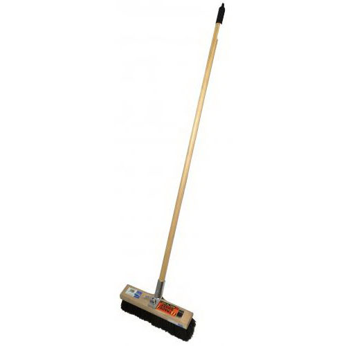 Trade Sweep 14BHJ Bolt Hole Platform Broom Complete 457mm Wooden Handle PR801SBH