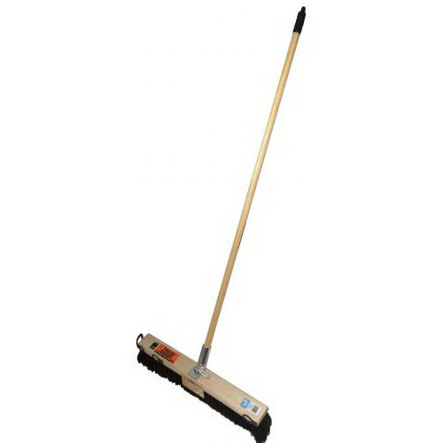 Trade Sweep 24BHJ Bolt Hole Platform Broom Complete 600mm Wooden Handle PR802SBH