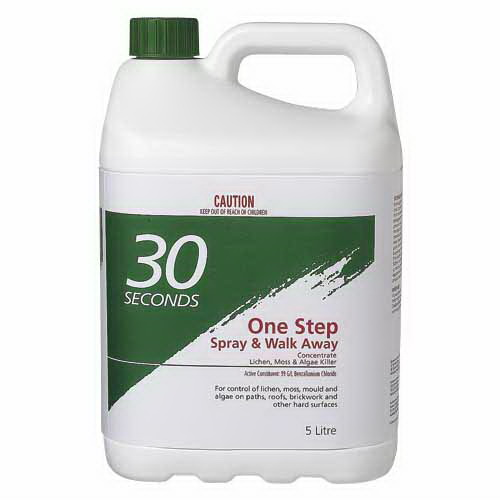 One Step Spray & Walk Away Lichen, Moss & Mould Remover 5L 09606
